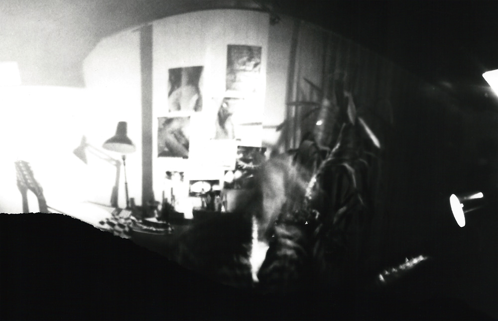 T-ACHE in his room, camera obscura photograph