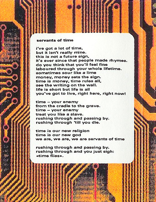 T-ACHE God on the Ladder - Retrospective 91 - 97, Album Cover, excerpt, lyrics print, servants of time